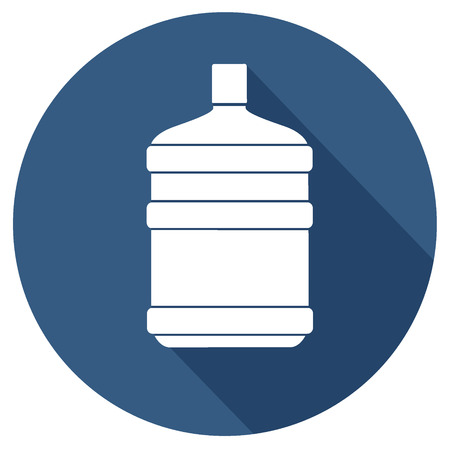 limpid: simple water bottle icon Illustration