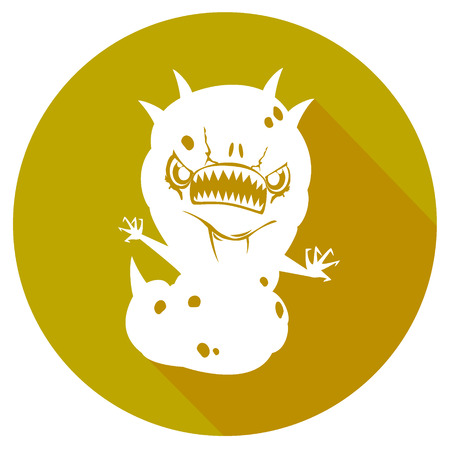 infectious waste: simple biohazard icon. vector illustration 2