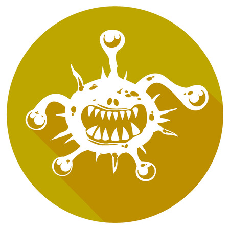 infectious waste: simple biohazard icon. vector illustration 3 Illustration