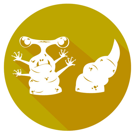infectious waste: simple biohazard icon. vector illustration 4