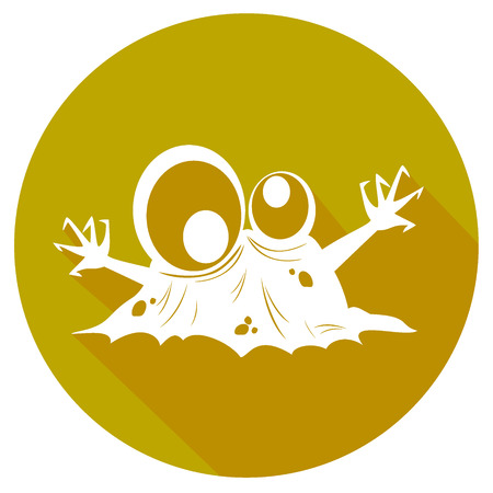 biological waste: simple biohazard icon. vector illustration 5
