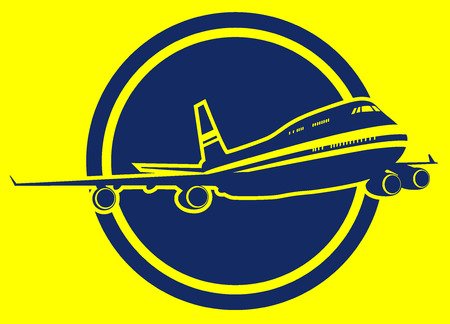 airborne: airctraft sign. vector illustration 2