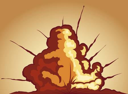 chemical weapon symbol: explosion. vector illustration 2
