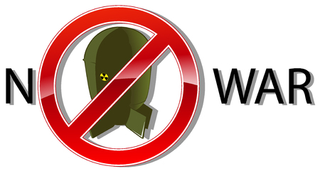 no war: no war sign concept. vector illustration