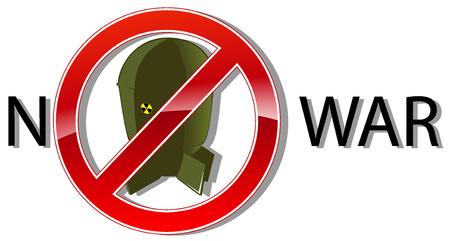 no nuclear: no war sign concept. vector illustration