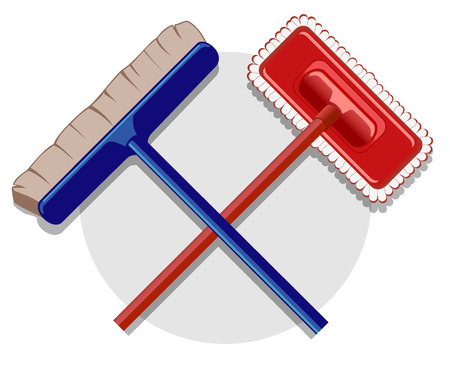 light duty: illustration of cleaning service image. vector 5