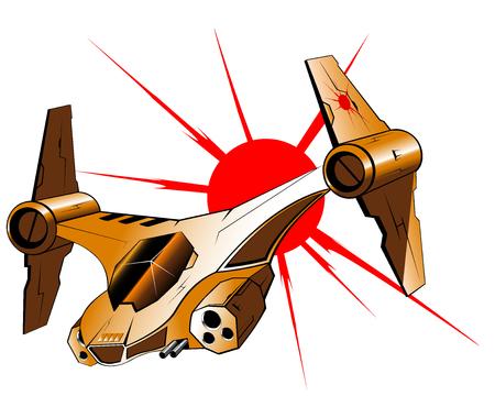 interceptor: futuristic interceptor. vector illustration 2 Illustration