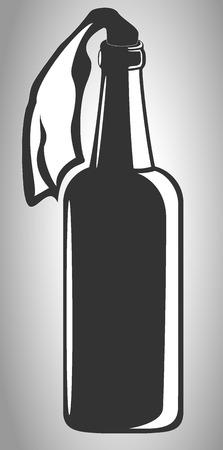 molotov: image of molotov cocktail. vector illustration Illustration