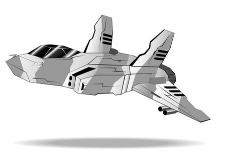 interceptor: futuristic interceptor. vector illustration 4