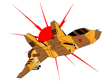 interceptor: futuristic interceptor illustration 3 Illustration