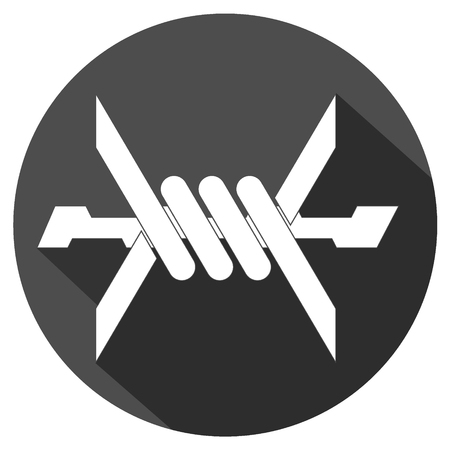 iron defense: simple icon of barbed wire. vector illustration Illustration