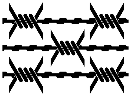 barbed wire fence: barbed wire. vector illustration Illustration