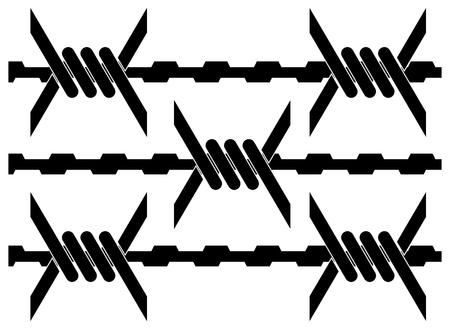 barbed wire. vector illustration Illustration