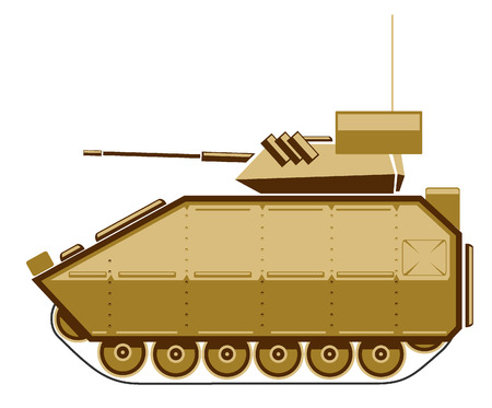 turret: illustration of combat vehicle.
