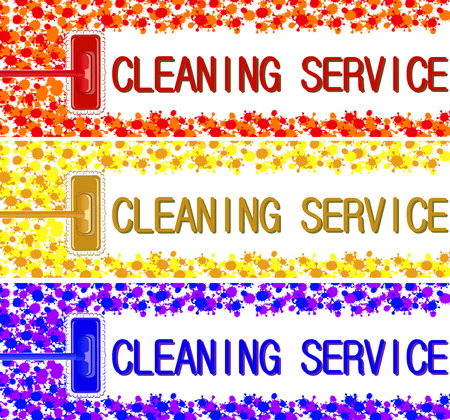 light duty: cleaning service company banner.