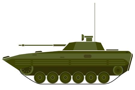 tanque de guerra: ilustración de vehículo de combate. Vectores