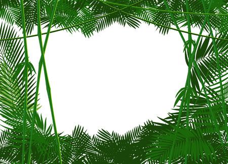 Dżungla lasów backgound dla ciebie tekstu lub obrazu prostego. ilustracji wektorowych