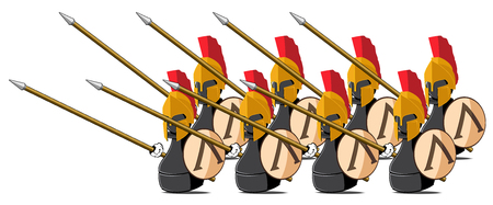 chessmen: set of the chessmen represented in the kind of the Spartans.