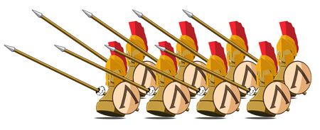 spartan: set of the chessmen represented in the kind of the Spartans. abstract vector illustration Illustration