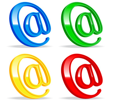 set of varicolored e-mail icons. vector illustration 2