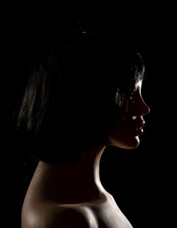 Mannequin face on a black background