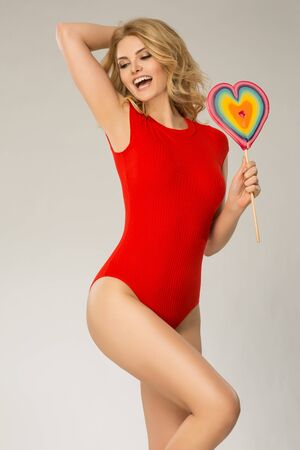 photgraphy: Valentines women in red body