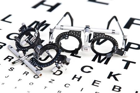 Leesbrillen en ooggrafiek Stockfoto