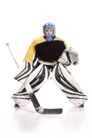 icehockey: hockey goalie Stock Photo