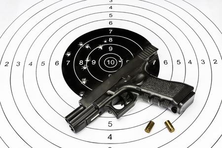 Gun ans shooting target