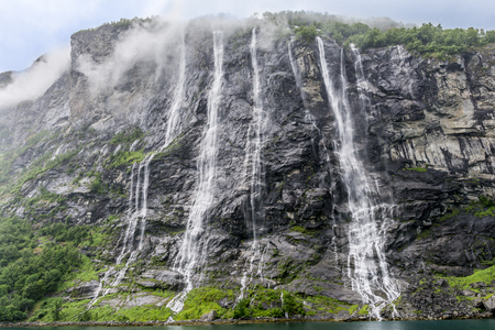 Geirangerfiord - Seven Sisters Waterfall
