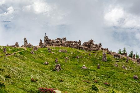 sud tirol: Stoanerne Mandln - Italy (Stone Man)