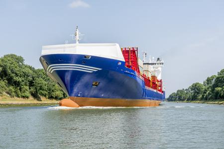 Cargo ship in the Kiel Canal