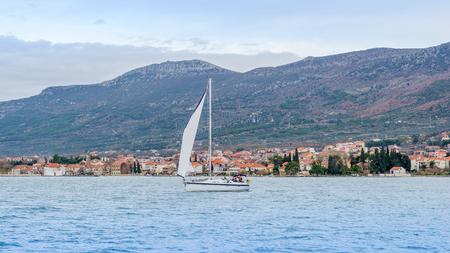 Sailing Yacht on Adriatic Croatia