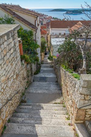 Narrow alley of Hvar Croatia