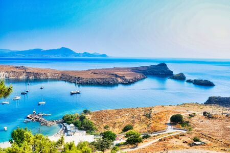 Bay on the island of Rhodes. Greece