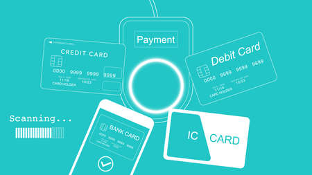 4 types of cashless payment. Most Popular Types Of Cashless Payments. Debit and credit cards, mobile payments and ic card.