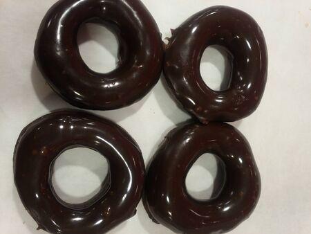 Chocolate doughnut Фото со стока