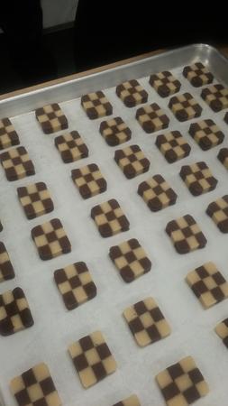 Checker board cookies Reklamní fotografie