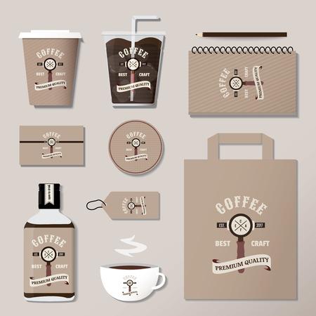 coffee corporate identity template design set