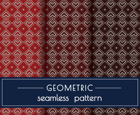 Geometric Seamless Pattern with 3 colours background Simple style 向量圖像