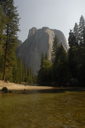 merced: Merced river and cathedral rock