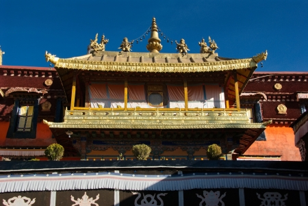 tibet: Jokhang temple, also known as Tsuglhakhang, is the most revered religious structure in Tibet Stock Photo