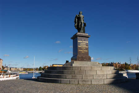 gustaf: Statue of Gustaf 3rd at Gamla Stan, Stockholm, Sweden