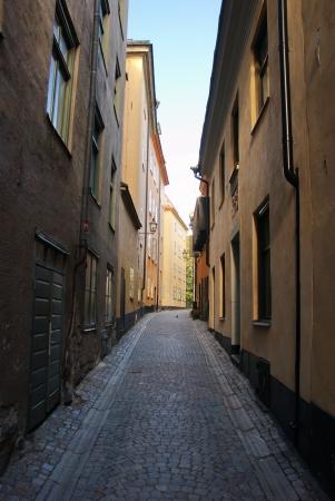 Narrow streets of Gamla stan, Stockholm, Sweden