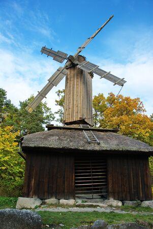 The Främmestad windmill, brought to Skansen from West Gothland