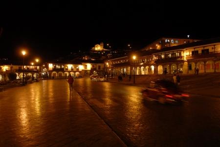 plaza de armas: Plaza de Armas, Cuzco, Peru in the night