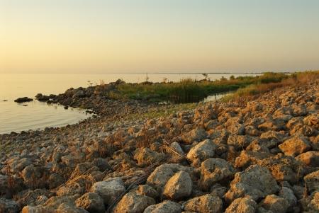 shores: Shores of lake Okeechobee, near sunset time
