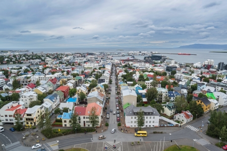 ericsson: View of Reykjavik from the Hallgrimskirkja tower