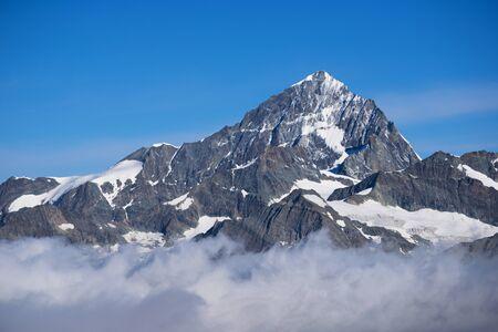 extreme terrain: Dent Blanche is 4,357 metres high summit, seen from Gornergrat