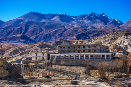 Gelup Sec Monastery of VIctory  is renovated after earthquake, and is part of Mustang kings summer residence.